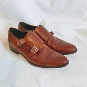 To BOOT NEW YORK Captoe Monkstrap Shoes Sz 8.5